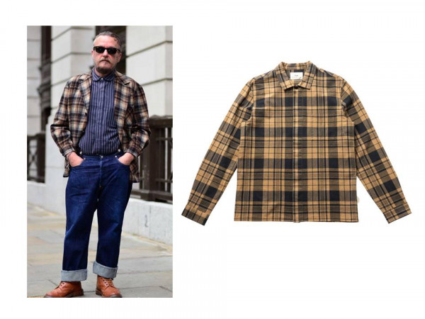 5 x ways to style an overshirt - with another pattern