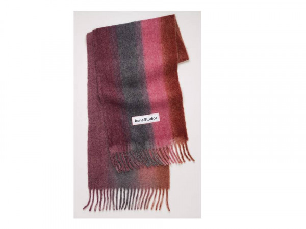 Acne Studios gradient scarf purple and pink