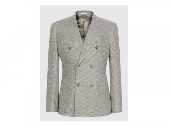 Reiss puppytooth grey linen blazer - personal style advice for men