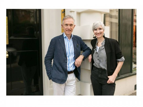 Sarah Gilfillan with David Evans from the Grey Fox blog